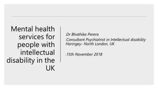 Mental health services for people with intellectual disability in the UK