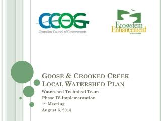 Goose & Crooked Creek Local Watershed Plan