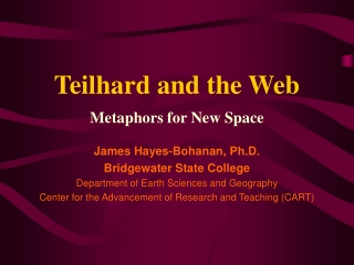 Teilhard and the Web