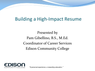 Building a High-Impact Resume