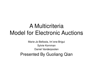 A Multicriteria Model for Electronic Auctions