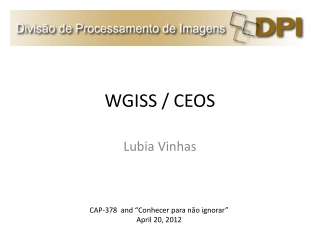 WGISS / CEOS