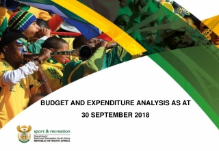 BUDGET AND EXPENDITURE ANALYSIS AS AT  30 SEPTEMBER 2018