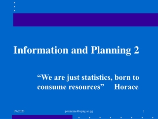 Information and Planning 2
