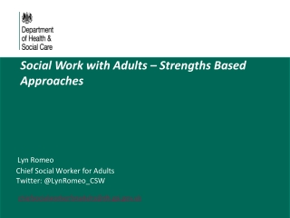 Why is Asset/Strengths Based work important? Rights Based and Person Centred