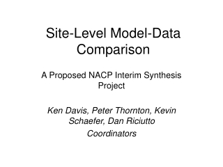 Site-Level Model-Data Comparison