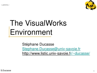 The VisualWorks Environment