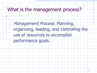 What is the management process?