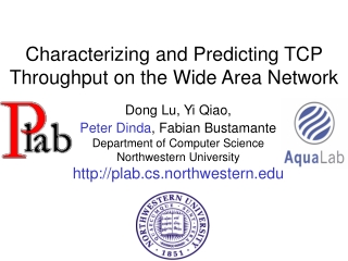 Characterizing and Predicting TCP Throughput on the Wide Area Network
