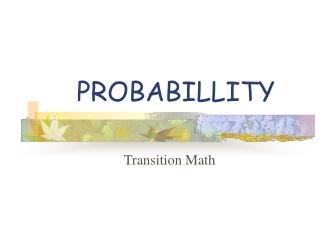 PROBABILLITY