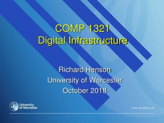 COMP 1321  Digital Infrastructure