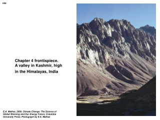Chapter 4 frontispiece.  A valley in Kashmir, high in the Himalayas, India