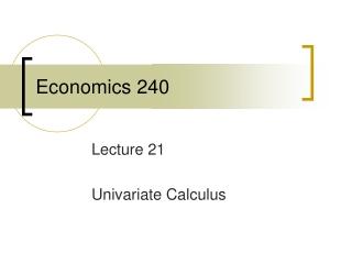 Economics 240