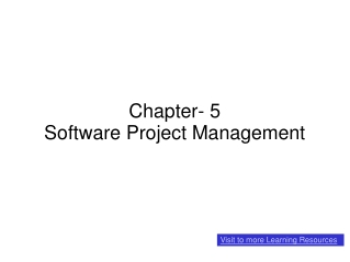 Chapter- 5 Software Project Management