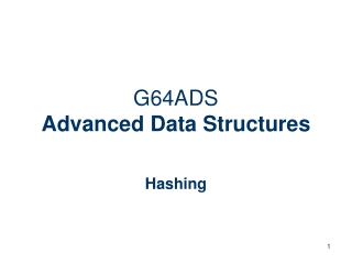 G64ADS Advanced Data Structures