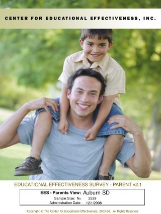 EDUCATIONAL EFFECTIVENESS SURVEY - PARENT v2.1