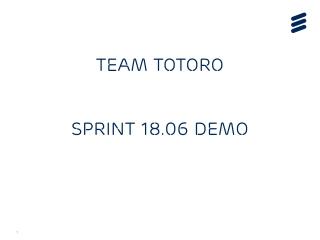 TEAM TOTORO SPRINT 18.06 DEMO