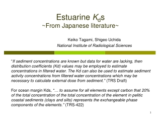 Estuarine  K d s ~From Japanese literature~