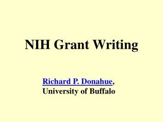 NIH Grant Writing