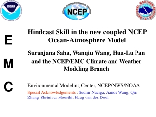 Hindcast Skill in the new coupled NCEP Ocean-Atmosphere Model