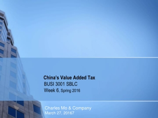 China's Value Added Tax