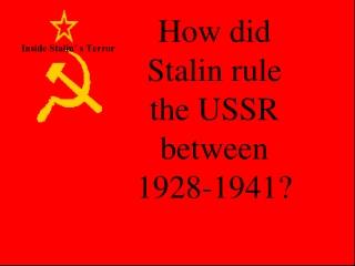 Inside Stalin' s Terror