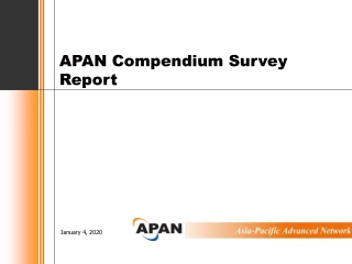 APAN Compendium Survey Report