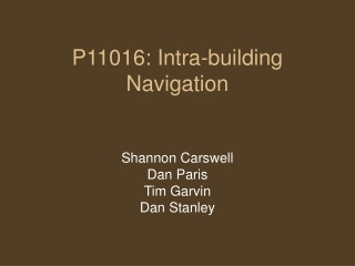 P11016: Intra-building Navigation