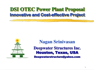 DSI OTEC Power Plant Proposal Innovative and Cost-effective Project