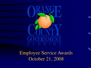 Employee Service Awards October 21, 2008