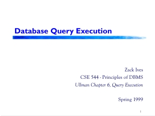 Database Query Execution