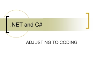 .NET and C#