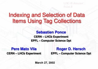 Indexing and Selection of Data Items Using Tag Collections