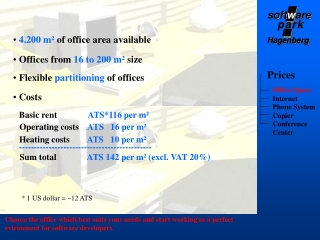 4.200 m²  of office area available