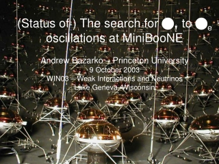 (Status of ) The search for  n m  to  n e oscillations at MiniBooNE