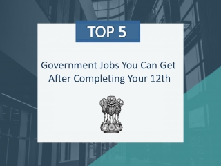 Top 5 Government Jobs You Can Get After Completing Your 12th