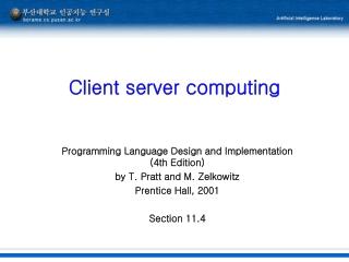 Client server computing