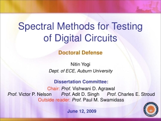 Spectral Methods for Testing of Digital Circuits