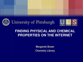 FINDING PHYSICAL AND CHEMICAL PROPERTIES ON THE INTERNET