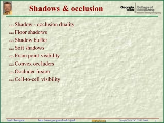 Shadows & occlusion
