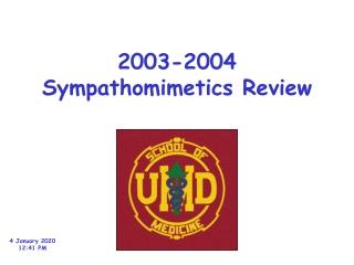 2003-2004 Sympathomimetics Review