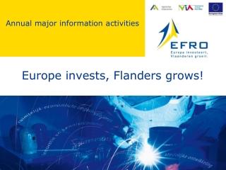 Europe invests, Flanders grows!