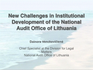 New Challenges in Institutional Development of the National Audit Office of Lithuania