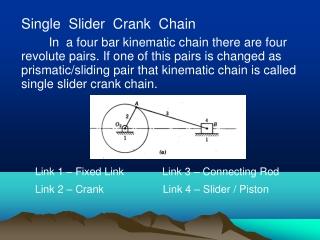 Single  Slider  Crank  Chain