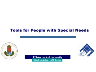 Tools for People with Special Needs