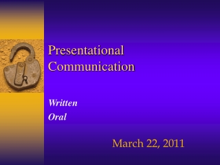 Presentational Communication