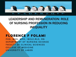 Leadership and Remuneration: Role of Nursing profession in reducing inequality