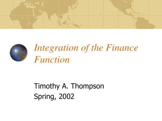 Integration of the Finance Function