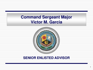 Command Sergeant Major Victor M. Garcia
