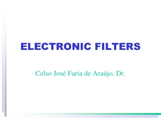 ELECTRONIC FILTERS